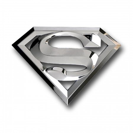 Superman 3D Chrome Adhesive Car Emblem