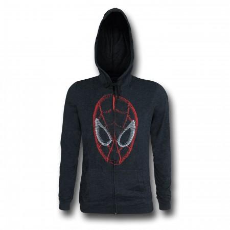 Spiderman Face Factory Second Men's Zipper Hoodie