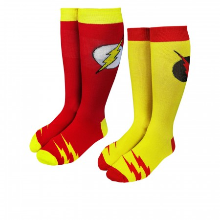 Flash & Reverse Flash Crew Sock 2-Pair Pack