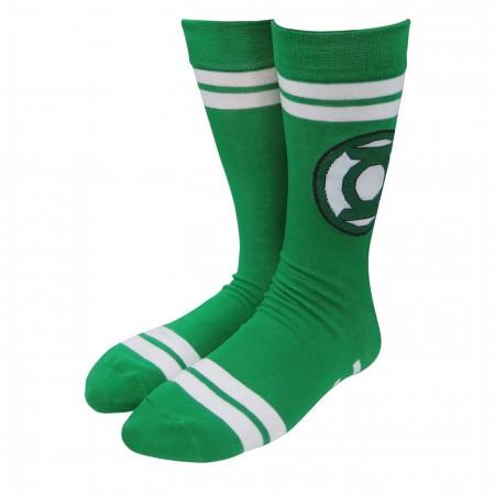 Green Lantern Symbol Green Socks