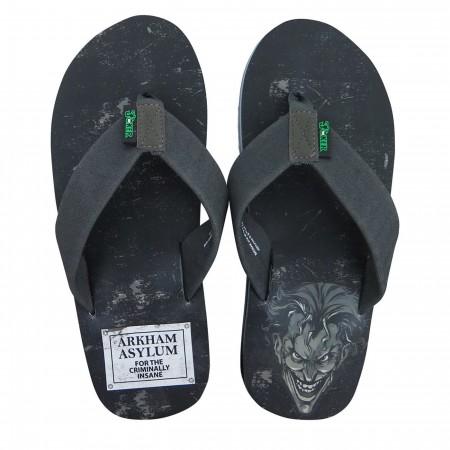 Joker Arkham Asylum Men's Flip Flops