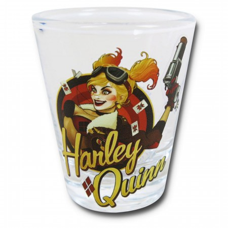 Harley Quinn Bombshell Mini Glass