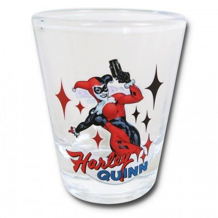 Harley Quinn Stance Mini Glass