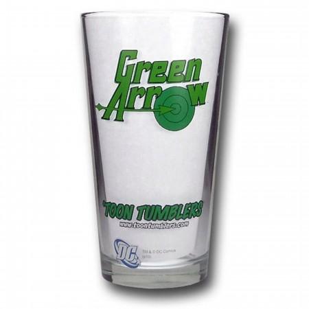 Green Arrow Pint Glass
