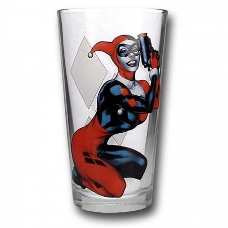 Harley Quinn Pint Glass