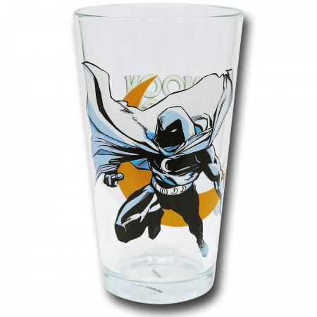 Moon Knight Pint Glass Clear