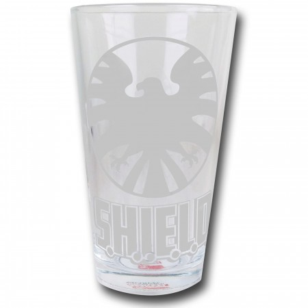 SHIELD Etched Print Pint Glass