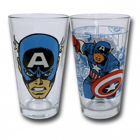 Captain America Face & Pose Pint 2-Pack