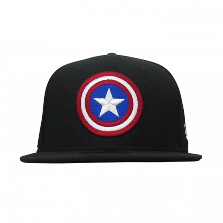Captain America Symbol On Black 9Fifty Adjustable Hat