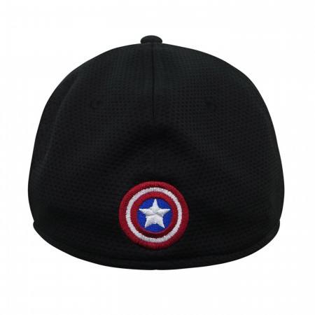 Captain America Shield Black 59Fifty Fitted Hat