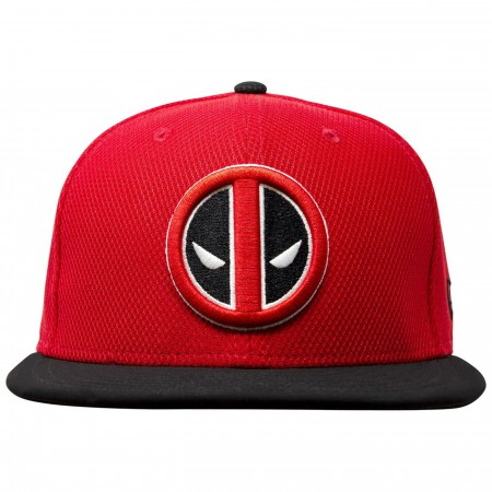 Deadpool Symbol Red & Black 59Fifty Fitted Hat