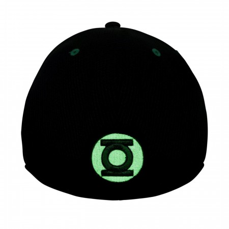 Green Lantern Black Glow Armor 39Thirty Fitted Hat