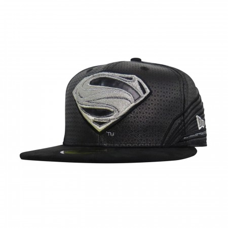 Superman Black Armor Justice League 59Fifty Fitted Hat