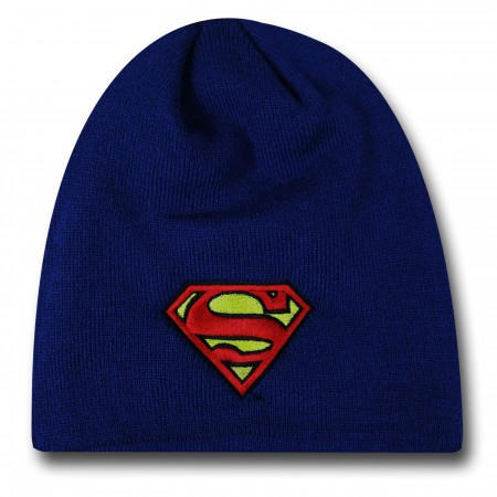 Superman Symbol Royal Blue New Era Beanie