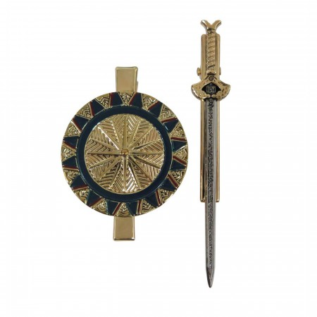 Wonder Woman Movie Sword and Shield Hair Clip Set