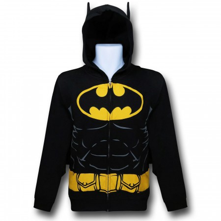 Batman Hooded Caped Belt Costume Zip-Up Hoodie