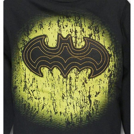 Batman Felt Symbol Kids Zip-Up Hoodie