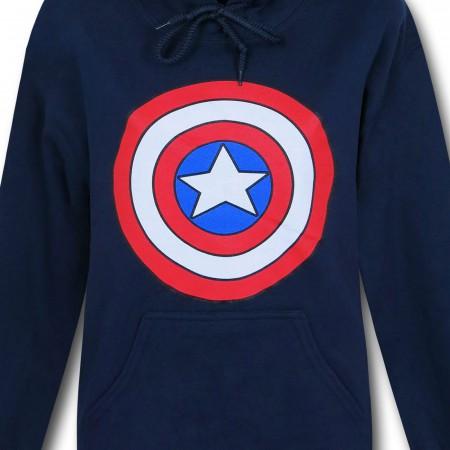 Captain America Shield Women's Navy Hoodie