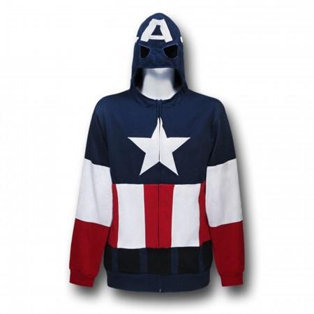 Captain America Costume Hoodie w/Eye Holes