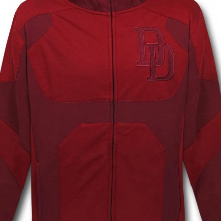 Daredevil Costume Zip-Up Hoodie