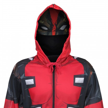 Deadpool Sublimated Men's Hoodie with Mask
