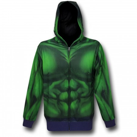 Hulk Lightweight Sublimated Costume Zip-Up Hoodie