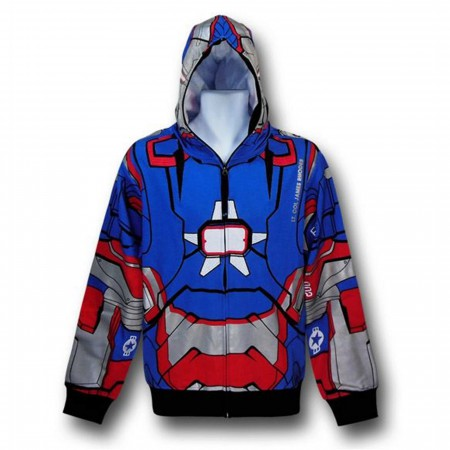 Iron Man 3 Iron Patriot Zip-Up Costume Hoodie