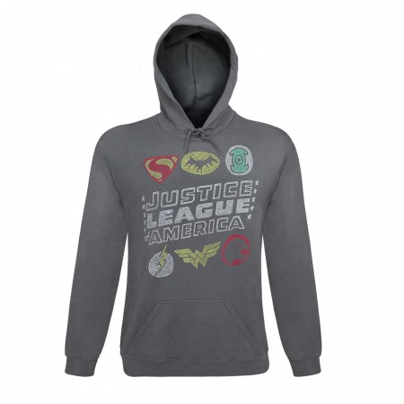 Justice League Classic Symbols Men's Hoodie