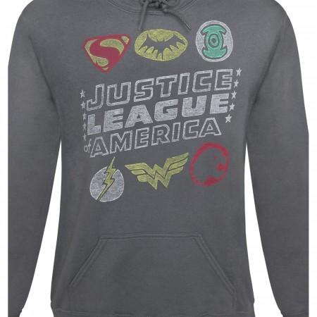 Justice League Classic Symbols Men's Hoodie