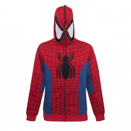 Spider-Man Full Zip-Up Costume Hoodie