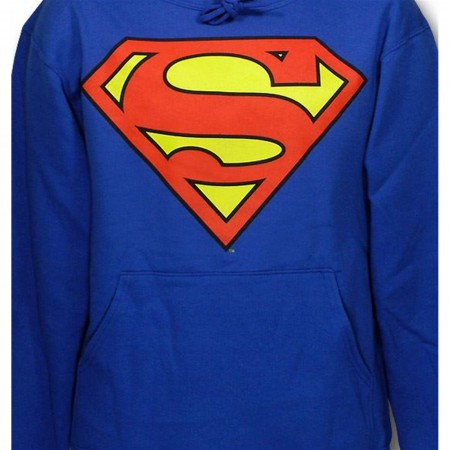 Superman Symbol Royal Hooded Sweatshirt