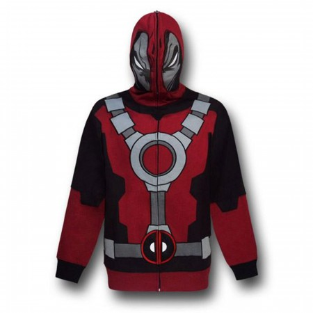 Deadpool Costume Zip Up Hoodie