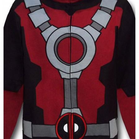 Deadpool Costume Zip Up Hoodie