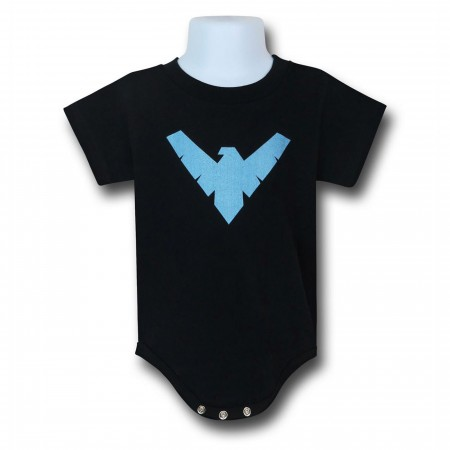 Nightwing Symbol Infant Snapsuit