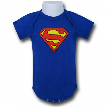 Superman Symbol Royal Blue Infant Snapsuit