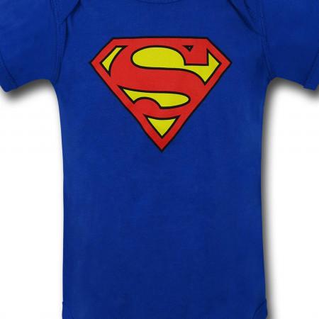 Superman Classic Symbol Infant Snapsuit