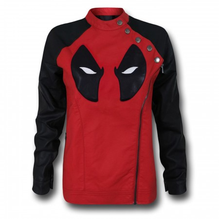 Deadpool Side Zip Moto Women's Jacket