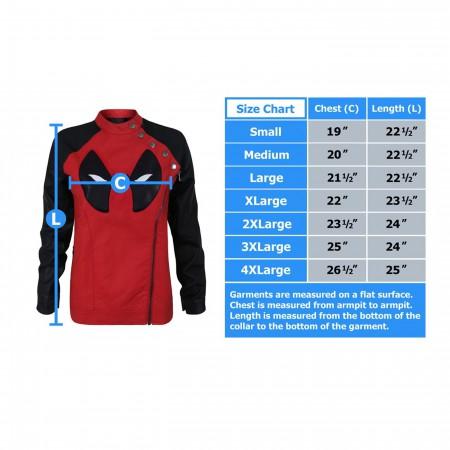 Deadpool Side Zip Moto Women's Jacket