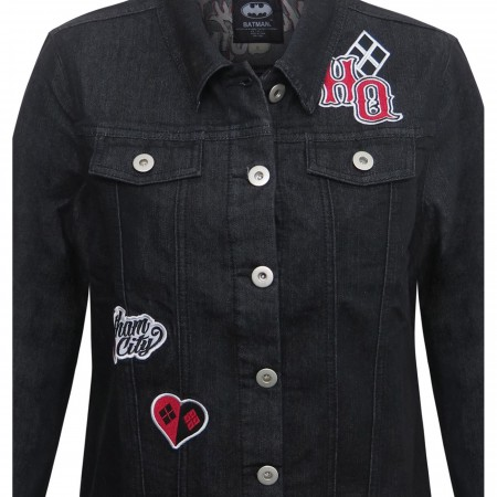 Harley Quinn Animated Women's Denim Jacket