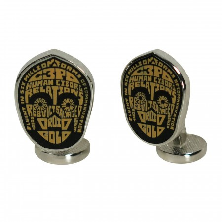 Star Wars C3PO Typography Cufflinks