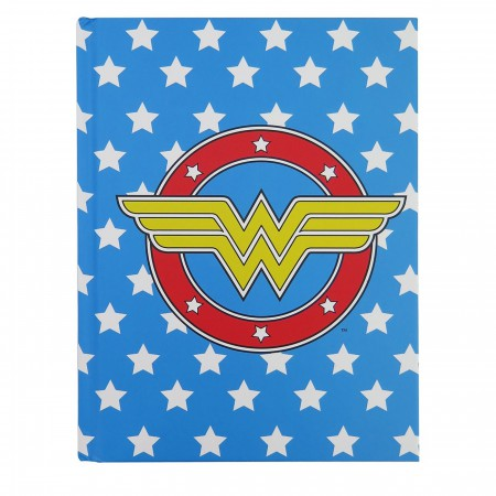 Wonder Woman Logo & Stars Hardcover Journal