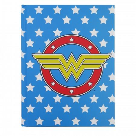 Wonder Woman Logo & Stars Hardcover Journal