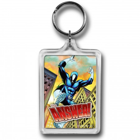 The Answer Here Comes The Answer Lucite Keychain