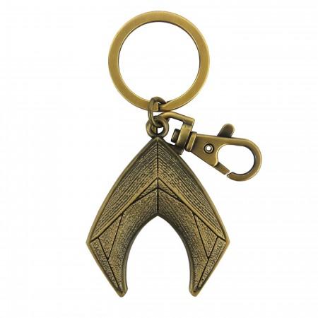 Aquaman Symbol Pewter Keychain