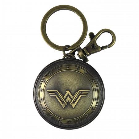 Wonder Woman Movie Shield Pewter Keychain