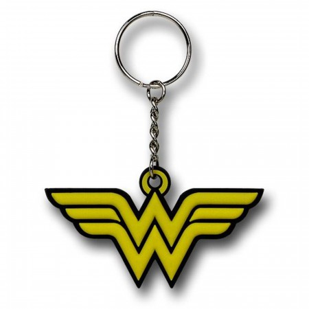 Wonder Woman Symbol Rubber Keychain