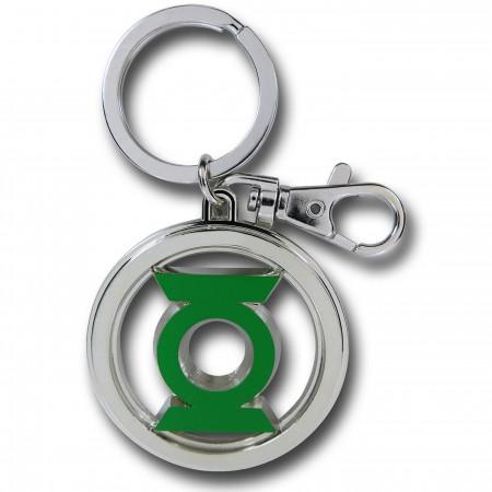 Green Lantern Symbol Color Pewter Keychain