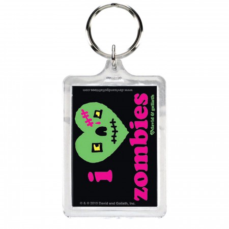 I Heart Zombies Keyring