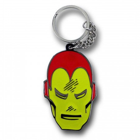 Iron Man Big Face Metal Keychain