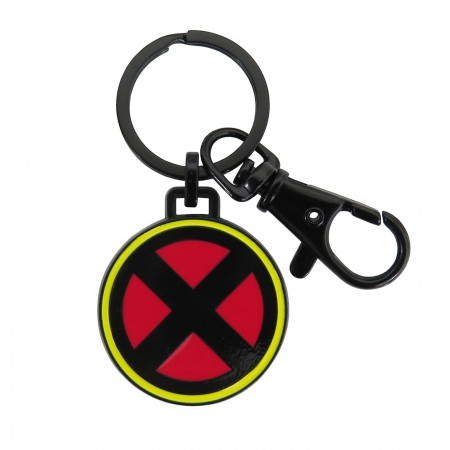 X-Men Symbol Black Metal Keychain